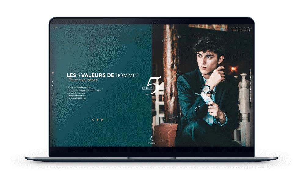 Refonte du site internet Homme5 à Nice